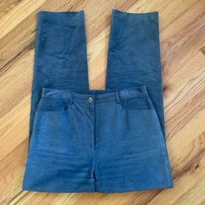 WORTH Gray Blue High Rise Suede Pants Size 6 EUC!!